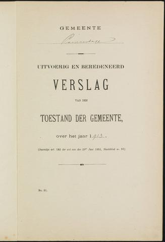 Princenhage - Verslagen van de toestand van de gemeente 1913-01-01
