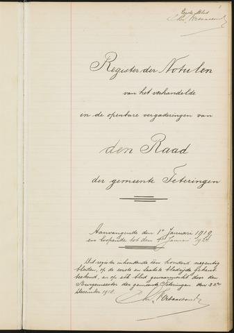 Teteringen - Notulen en bijlagen van de gemeenteraad 1919