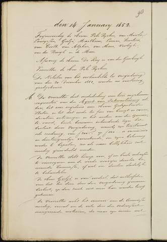 Breda - Notulen van de gemeenteraad 1852-01-01
