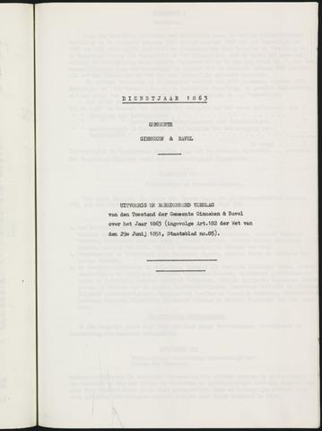 Ginneken en Bavel - Verslagen van de toestand van de gemeente 1863