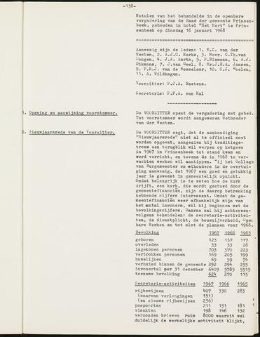 Prinsenbeek - Notulen van de gemeenteraad 1968