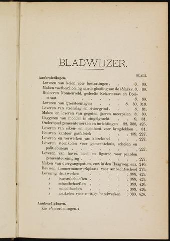 Breda - Indexen op de notulen van de gemeenteraad 1898