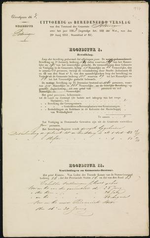 Teteringen - Verslagen van de toestand van de gemeente 1863