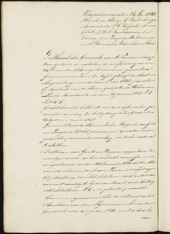 Princenhage - Notulen van de gemeenteraad 1832
