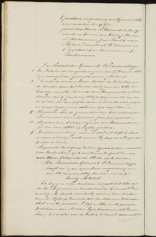 Princenhage - Notulen van de gemeenteraad 1869