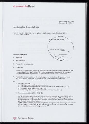 Breda - Bijlagen bij de notulen van de gemeenteraad 2009-02-12