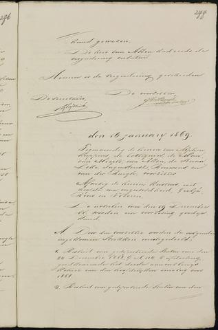Breda - Notulen van de gemeenteraad 1869-01-01