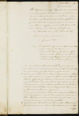 Princenhage - Notulen van de gemeenteraad 1848