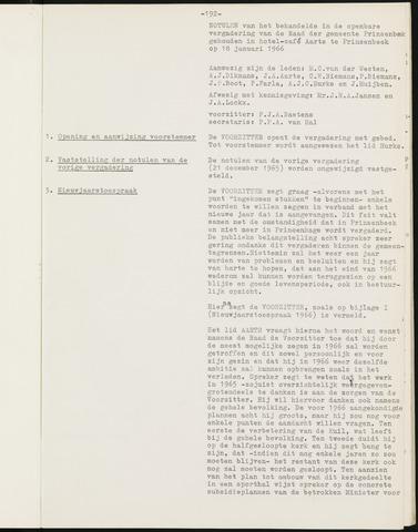Prinsenbeek - Notulen van de gemeenteraad 1966