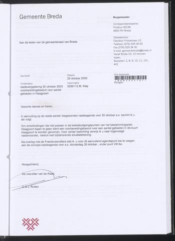 Breda - Bijlagen bij de notulen van de gemeenteraad 2003-10-29