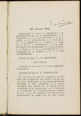 Breda - Notulen van de gemeenteraad 1913