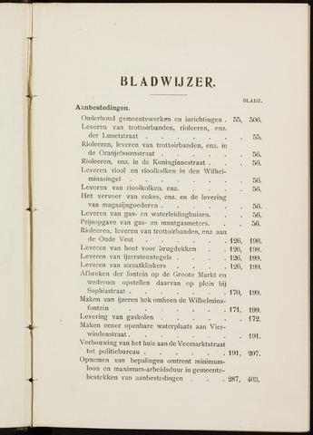 Breda - Indexen op de notulen van de gemeenteraad 1909-01-01