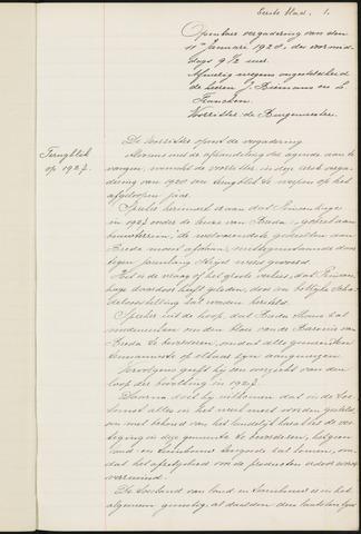 Princenhage - Notulen van de gemeenteraad 1928-01-01