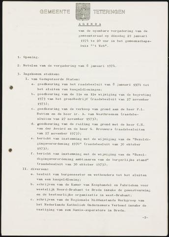 Teteringen - Notulen en bijlagen van de gemeenteraad 1974-01-29