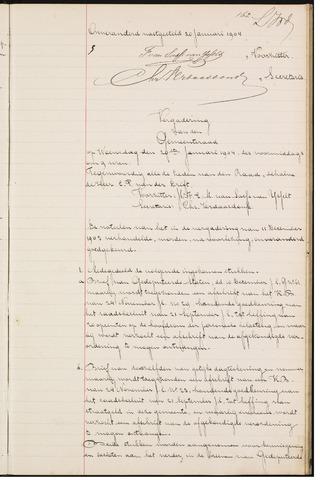 Teteringen - Notulen en bijlagen van de gemeenteraad 1904