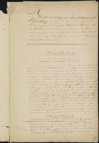 Teteringen - Verslagen van de toestand van de gemeente 1853