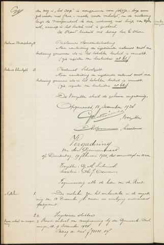 Teteringen - Notulen en bijlagen van de gemeenteraad 1925