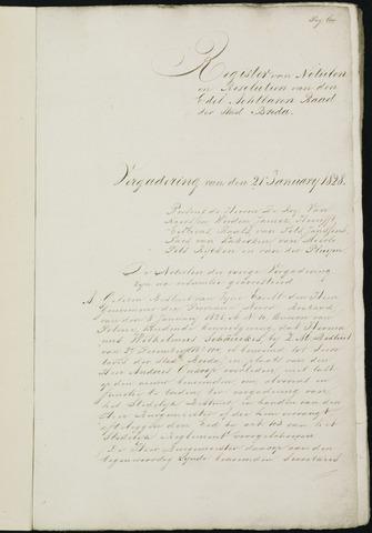Breda - Notulen van de gemeenteraad 1828-01-01
