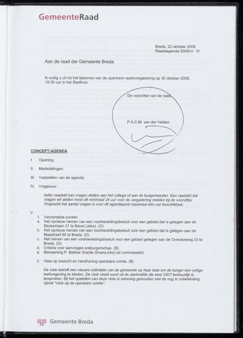 Breda - Bijlagen bij de notulen van de gemeenteraad 2008-10-30