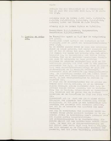 Prinsenbeek - Notulen van de gemeenteraad 1948
