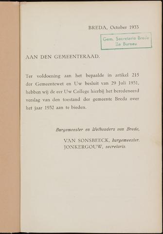 Breda - Verslagen van de toestand van de gemeente 1932
