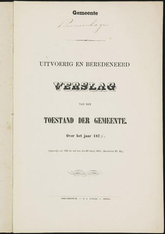 Princenhage - Verslagen van de toestand van de gemeente 1875