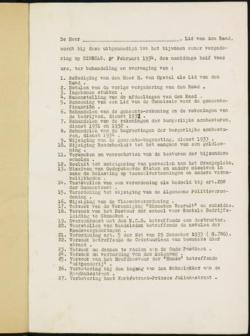 Ginneken en Bavel - Bijlagen bij de notulen van de gemeenteraad 1934-01-01