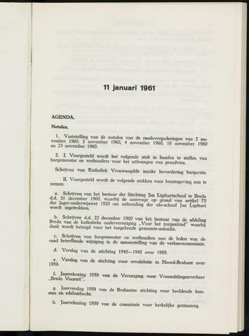 Breda - Notulen van de gemeenteraad 1961-01-01