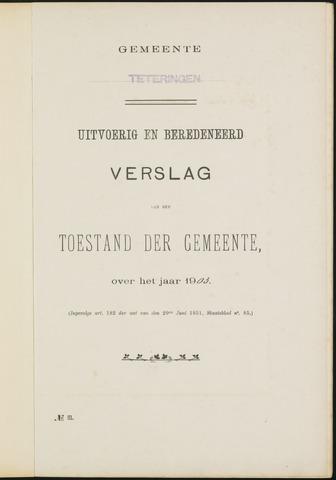 Teteringen - Verslagen van de toestand van de gemeente 1903