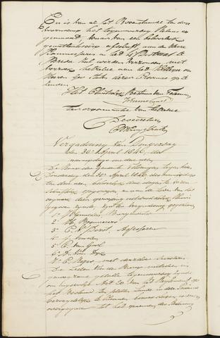 Teteringen - Notulen en bijlagen van de gemeenteraad 1846