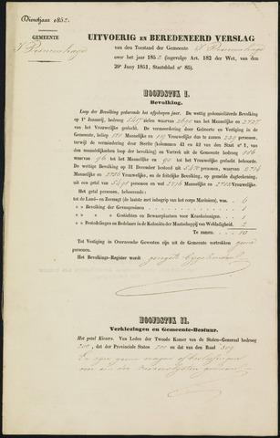 Princenhage - Verslagen van de toestand van de gemeente 1852-01-01