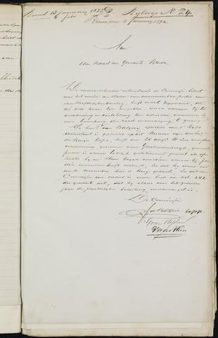 Breda - Bijlagen bij de notulen van de gemeenteraad 1872-01-01
