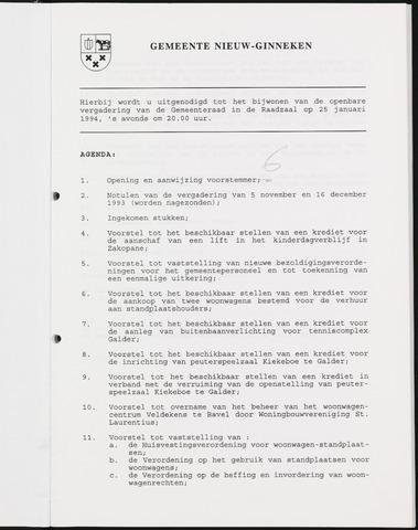 Nieuw-Ginneken - Notulen en bijlagen van de gemeenteraad 1994