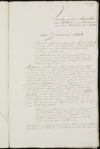 Breda - Notulen van de gemeenteraad 1836-01-01