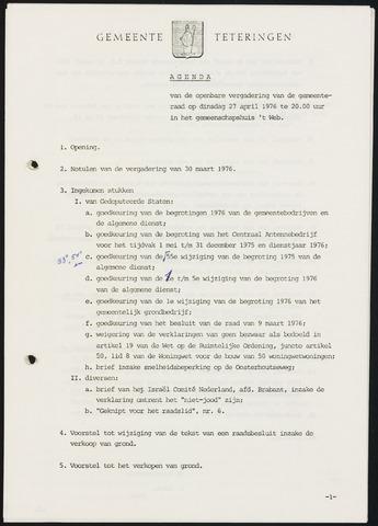 Teteringen - Notulen en bijlagen van de gemeenteraad 1976-04-27