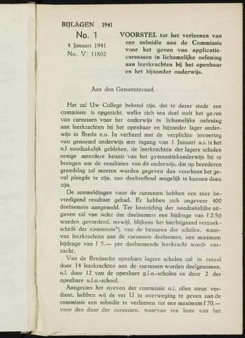 Breda - Bijlagen bij de notulen van de gemeenteraad 1941