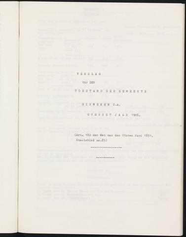 Ginneken en Bavel - Verslagen van de toestand van de gemeente 1908
