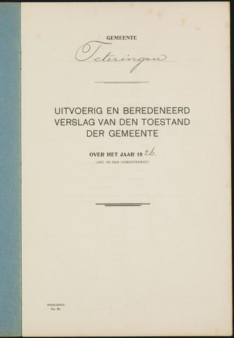 Teteringen - Verslagen van de toestand van de gemeente 1926