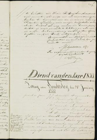 Ginneken en Bavel - Notulen van de gemeenteraad 1833-01-01