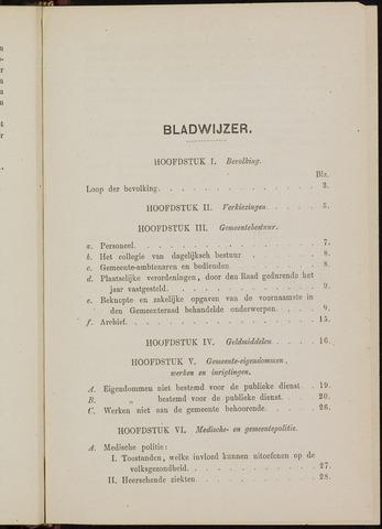 Breda - Verslagen van de toestand van de gemeente 1872