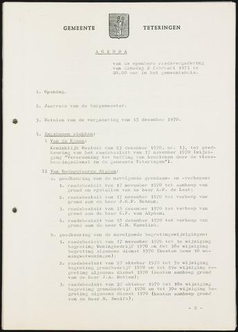 Teteringen - Notulen en bijlagen van de gemeenteraad 1971
