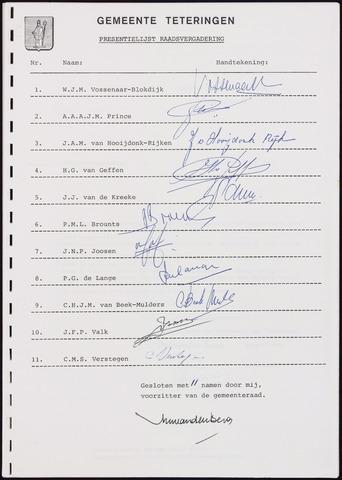 Teteringen - Notulen en bijlagen van de gemeenteraad 1987-07-07