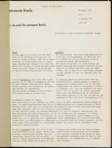 Breda - Bijlagen bij de notulen van de gemeenteraad 1961-01-01