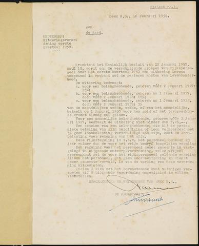 Prinsenbeek - Bijlagen bij de notulen van de gemeenteraad 1950