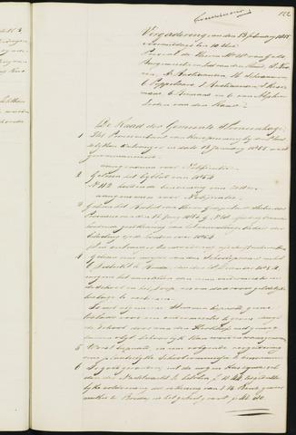 Princenhage - Notulen van de gemeenteraad 1855-01-01
