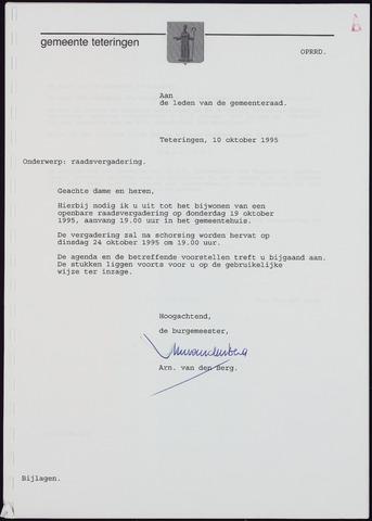 Teteringen - Notulen en bijlagen van de gemeenteraad 1995-10-19