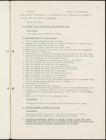 Nieuw-Ginneken - Notulen en bijlagen van de gemeenteraad 1959