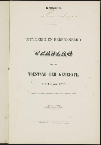 Princenhage - Verslagen van de toestand van de gemeente 1877-01-01