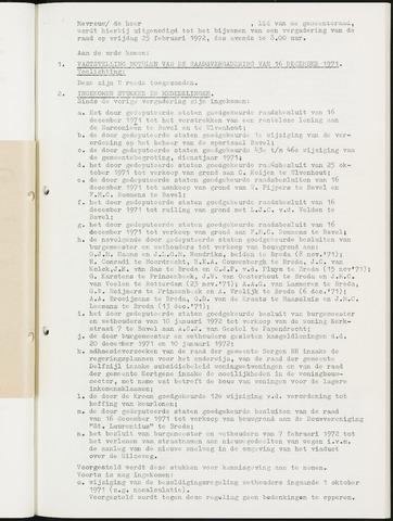 Nieuw-Ginneken - Notulen en bijlagen van de gemeenteraad 1972