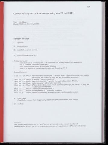 Breda - Notulen van de gemeenteraad 2013-06-27